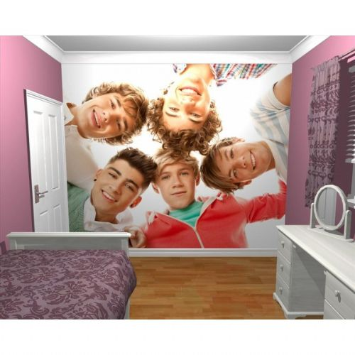 GIANT WALLPAPER WALL MURAL 1D ONE DIRECTION KIDS BEDROOM THEMED DESIGN